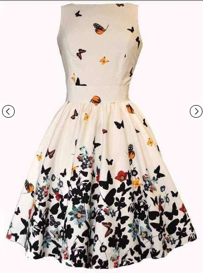 Rochie de vara cu fluturi-min