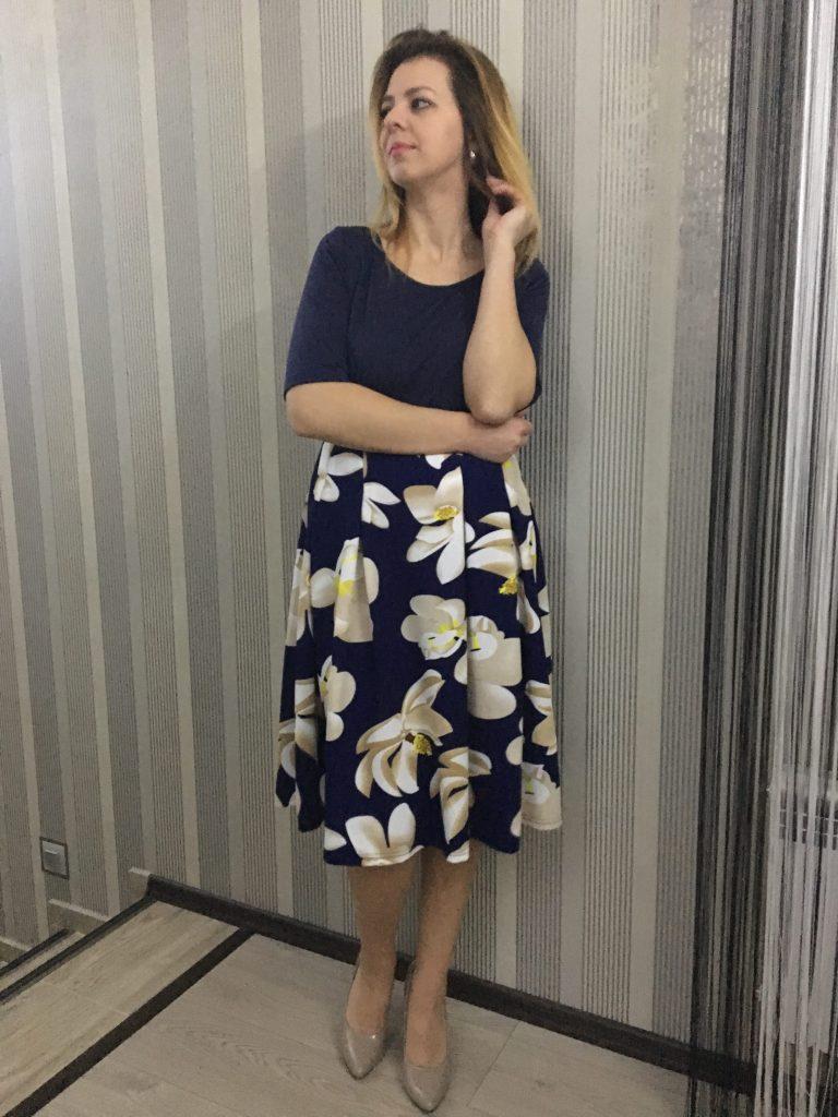 fashionmia-rochie-albastra